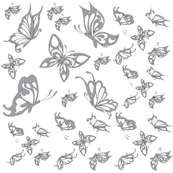 Flying Butterflies Glass Or Ceramic Decals 5353277