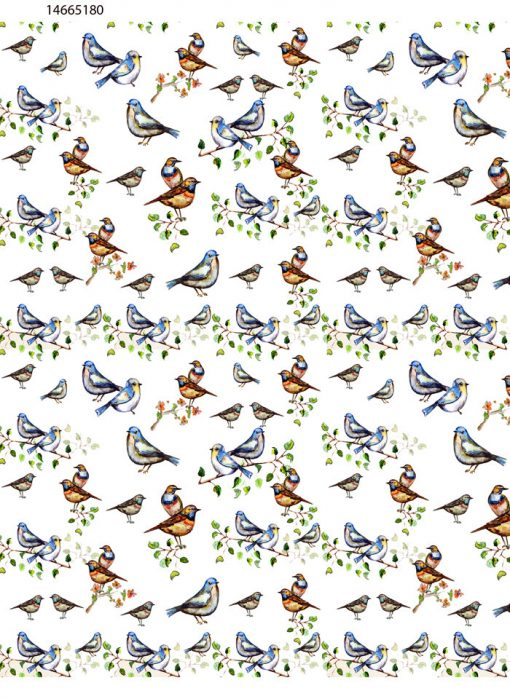 Colorful Birds on Branches ~ 14665180 ~ Ceramic decal - Glass Decal ~ Waterslide Transfer ~ LEAD FREE &  Food Safe