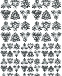Decorative Triangles ~ 6120819 ~ Ceramic Decal ~ Glass Decal ~ LEAD FREE & Food Safe ~ Waterslide Decal Transfer ~ 3 Sizes