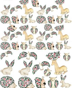 Magical Animals ~ 313048385 ~ Ceramic decal - Glass Decal ~ Waterslide Transfer ~ LEAD FREE &  Food Safe~3 Sizes to choose from