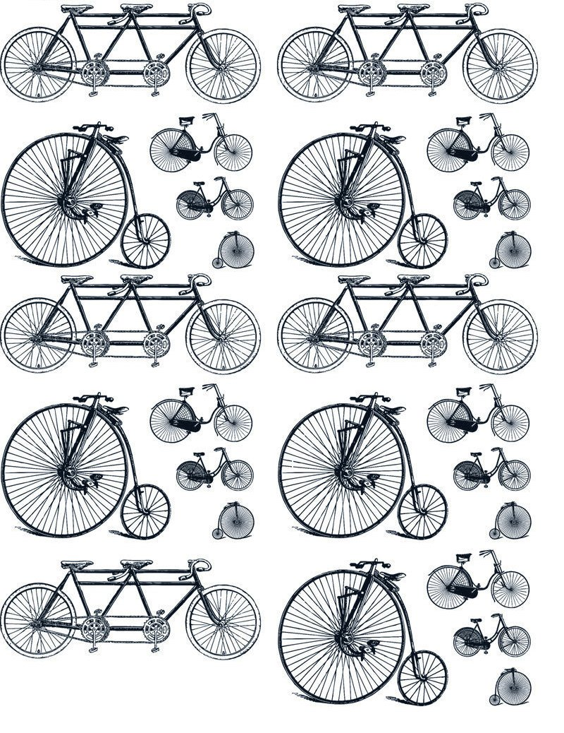 Ceramic Waterslide Decals Old Bicycles FOOD SAFE LEAD FREE