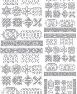 Celtic Knots 24 pcs 1 Black 18CC941 Fused Glass Decals